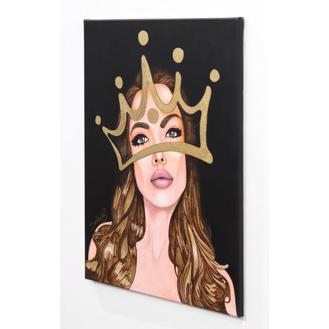 ''My Lady'' Contemporary Mixed-Media Portrait Painting by Brian Smith For Sale In Los Angeles - Image 6 of 9