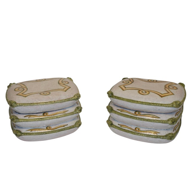 Vintage Neoclassical Ceramic Garden Stools - a Pair For Sale - Image 11 of 11