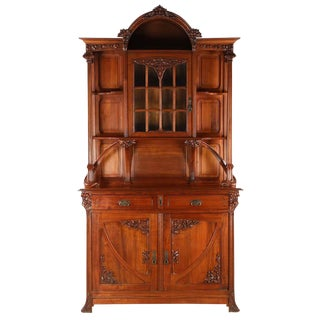 French Antique Walnut Sideboard For Sale