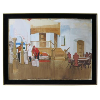 "1960s Vintage 20th Century Fox ""Caprice"" Movie Watercolor Sketch For Sale"