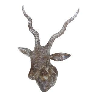 Hand Carved Wood Deer Head