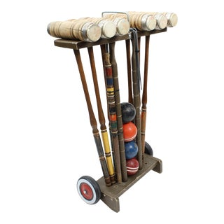 Vintage Traditional Croquet Set For Sale