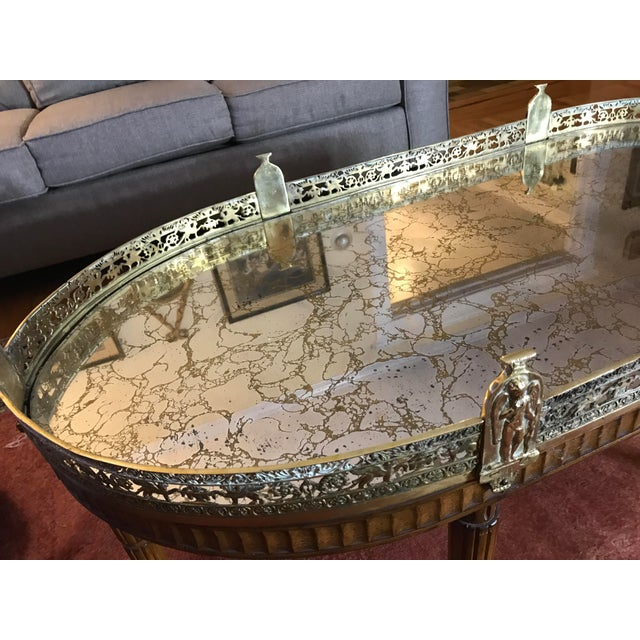 Mid-Century Modern French Plateau Coffee Table For Sale - Image 5 of 9