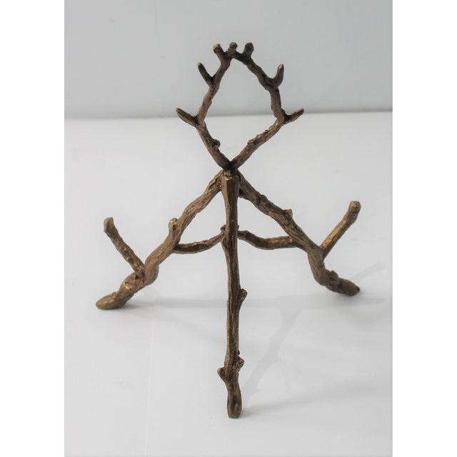 Gold Vintage Tabletop Easel Bronze Twig Motif For Sale - Image 8 of 13