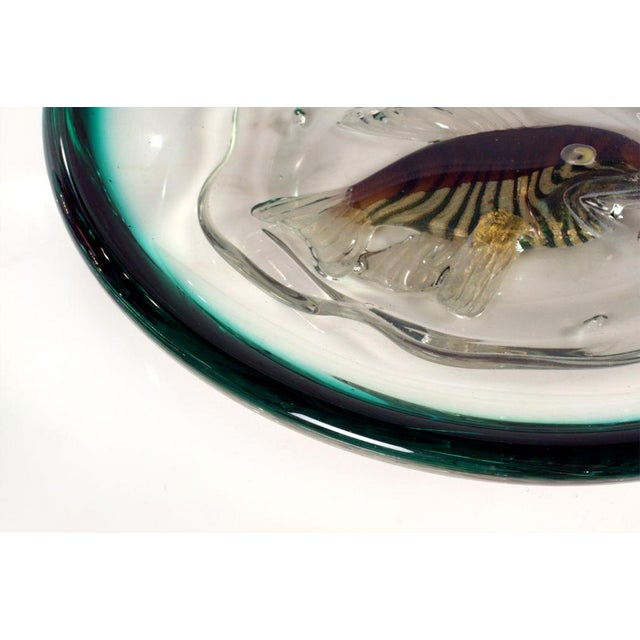Italian Glass 'Fish Bowl' Dish For Sale In New York - Image 6 of 8