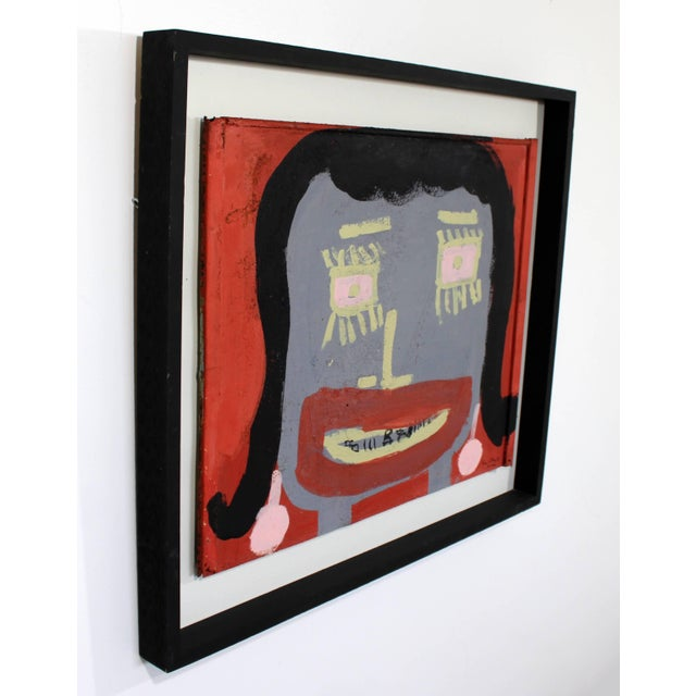 Contemporary Contemporary Framed Painting Portrait on Metal Signed Tyree Guyton Dated 2000s For Sale - Image 3 of 7