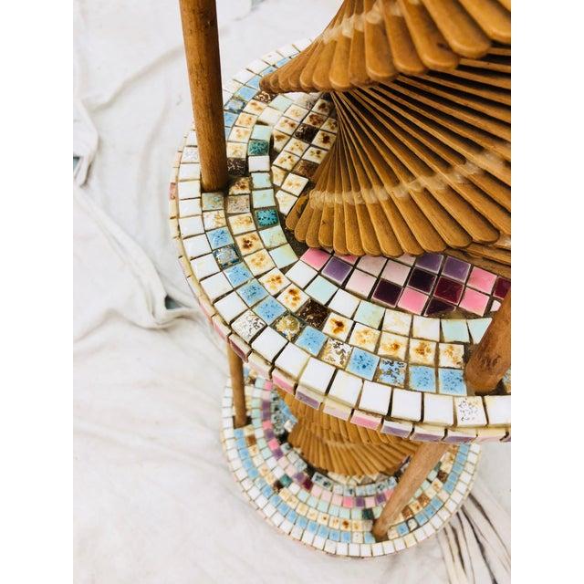 Americana Vintage Folk Arts & Crafts Lamp For Sale - Image 3 of 10