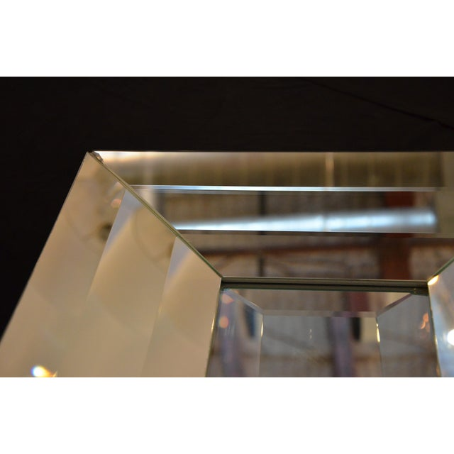 Mid Century Modern Italian Beveled Op Art Mirror - Image 8 of 11