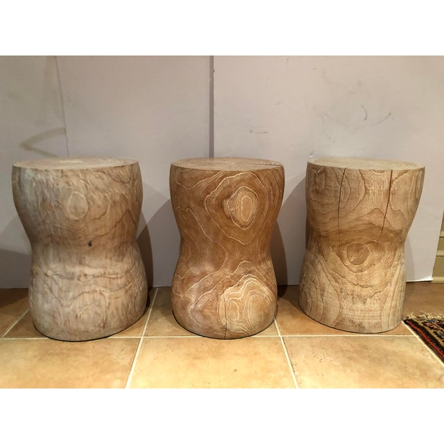 Sand 1980s Vintage Limed Oak Stools- Set of 3 For Sale - Image 8 of 8