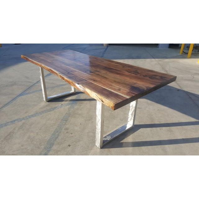 Acacia Wood Live Edge Table - Image 2 of 8