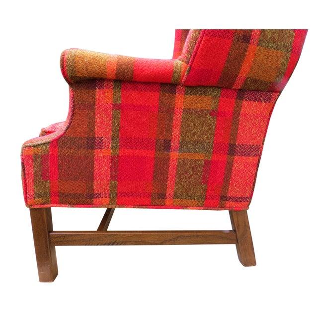 Vintage Mid-Century Flexsteel Georgian Style Wingback Chair For Sale - Image 9 of 13