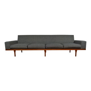 Illum Wikkelso for Søren Willadsen Model 50-4 Danish Modern Teak Sofa For Sale