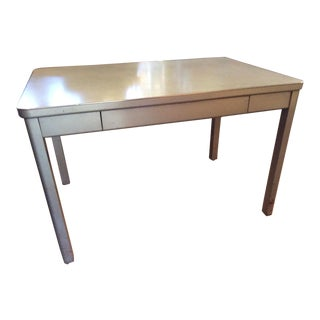 1970s Industrial Steelcase Metal Desk Table For Sale