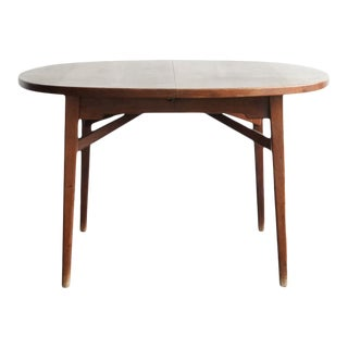 1970s Danish Teak Dining Table With Three Leafs For Sale