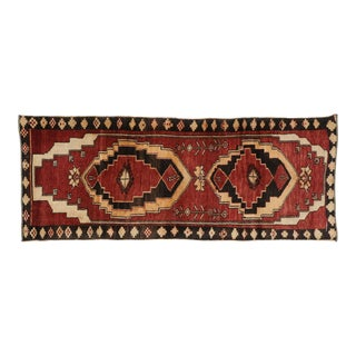 Vintage Turkish Oushak Runner With Mid-Century Modern Style - 03'05 X 08'08 For Sale