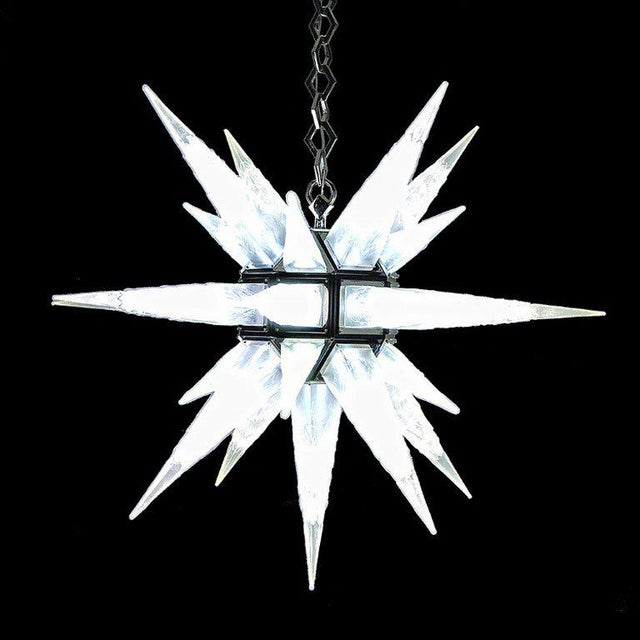 Large C.J. Weinstein Style Art Deco Star Chandelier - Image 2 of 5