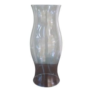 1990s Vintage Curved Glass Williamsburg Hurricane Candle Vase For Sale