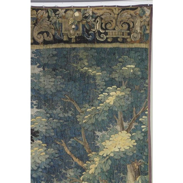 Flemish Verdure Tapestry For Sale In Boston - Image 6 of 10