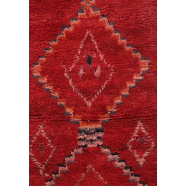 Boujad rugs are hand woven pile rugs from a small region in Haouz between the Middle Atlas and the Atlantic coast of...