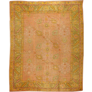 Exceptional Antique Oushak Carpet For Sale