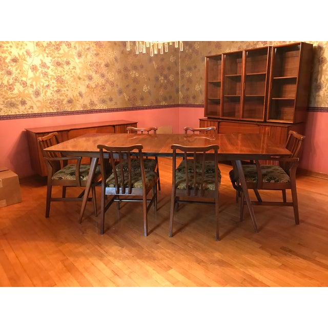Brown 1950s Vintage Modern Danish Dining Set For Sale - Image 8 of 8