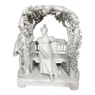 Antique French Biscuit Porcelain Figurine For Sale
