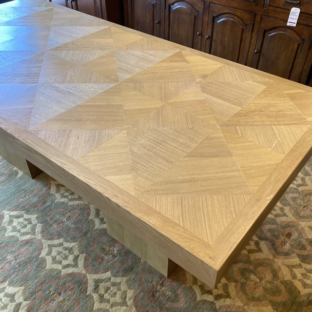 Custom Modern Oak Inlay Dining Table For Sale - Image 9 of 13