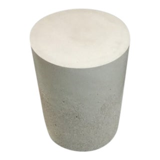 Contemporary Outdoor Drum Side Table For Sale