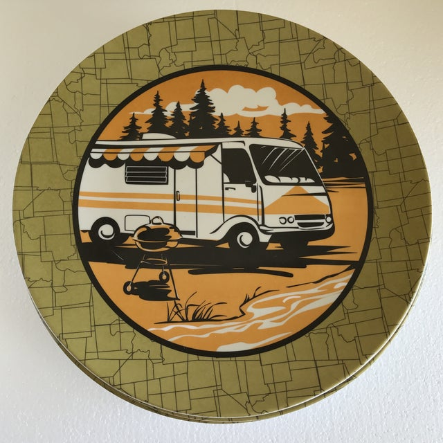 Trailer Park Camping Dinner Plates, Set of Eight For Sale In Los Angeles - Image 6 of 7