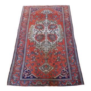 """Antique Persian Sarouk Farahan Rug - 3'5"""" X 5'4"""""""