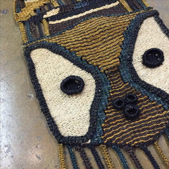 Don Freedman Style Boho Woven Owl Wall Hanging - Image 5 of 6