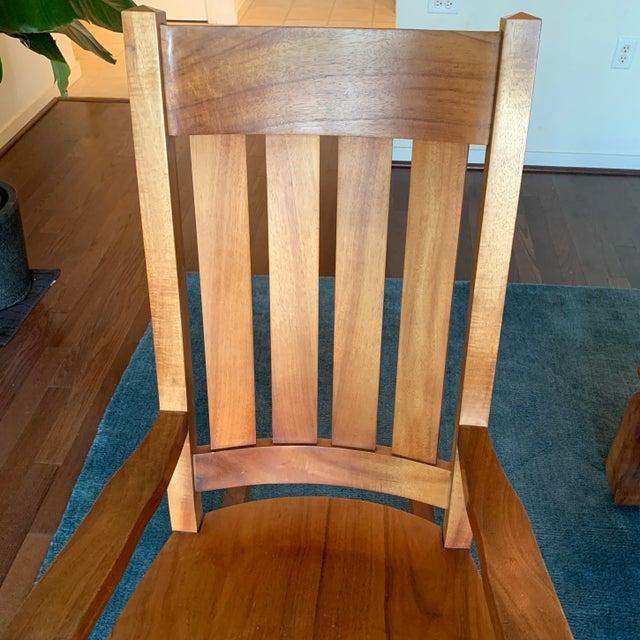 Fabulous 1980S Vintage Koa Wood Rocking Chair Chairish Machost Co Dining Chair Design Ideas Machostcouk