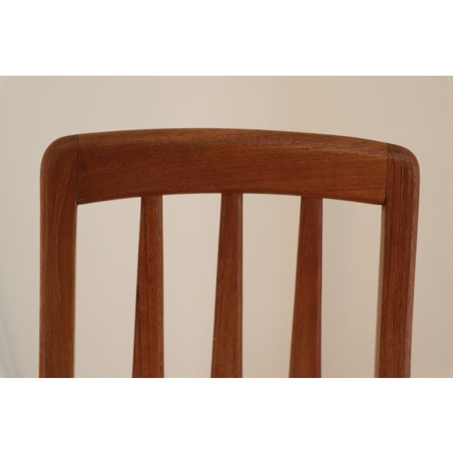 "Brown Danish Modern Niels Koefoed ""Eva"" Dining Chairs - Set of 6 For Sale - Image 8 of 11"