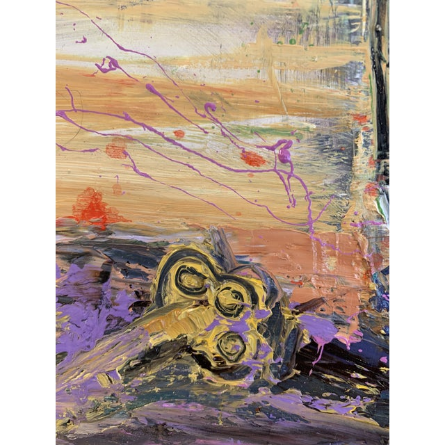 """""""Purple Perfection"""" a Modern Floral by Jj Justice For Sale In Santa Fe - Image 6 of 10"""