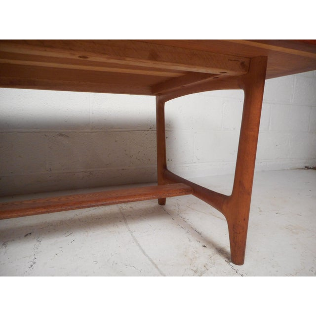 Vintage Modern Walnut Coffee Table For Sale - Image 10 of 12