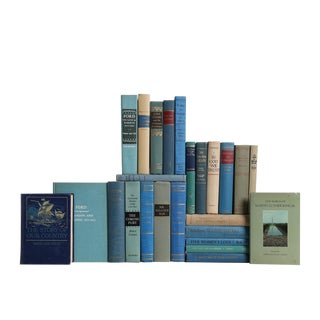 America's History in Ocean Blue - Set of Twenty-Five Decorative Books