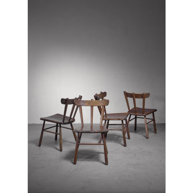 Set of Four Scandinavian Dining Chairs For Sale - Image 4 of 6