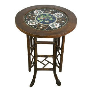 20th C. Chinese Cloisonné Occasional Table For Sale