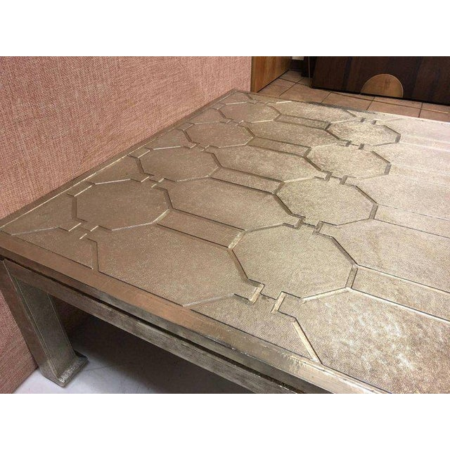 Modern Modern Silver Clad Coffee Table For Sale - Image 3 of 6