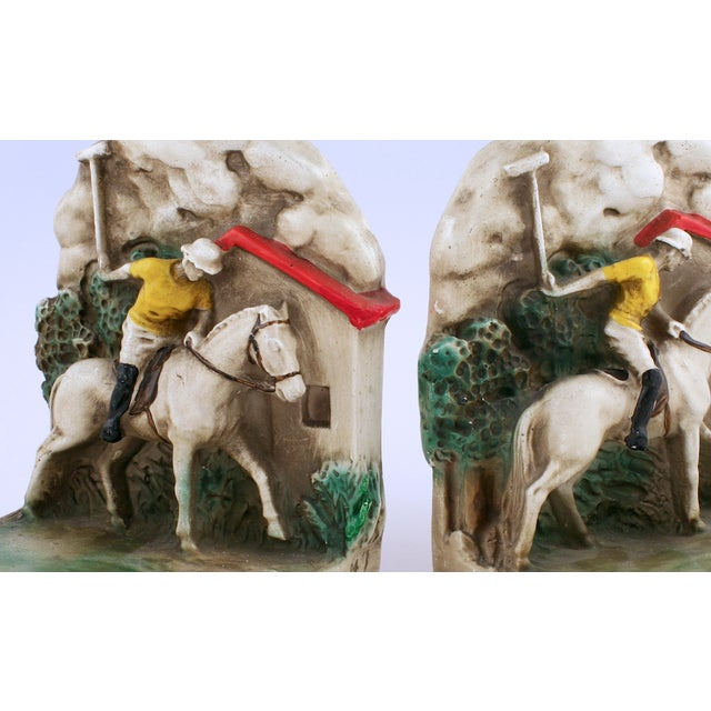 1930s Newport Polo Bookends - A Pair - Image 3 of 3