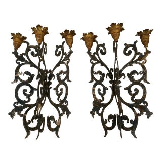 Painted Tole Wall Sconces For Sale