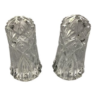 19th Century Cut Glass Salt & Pepper Shaker - a Pair For Sale