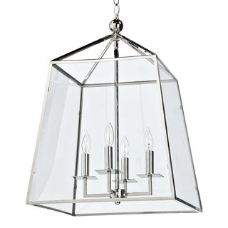Cachet Lantern in Polished Nickel For Sale