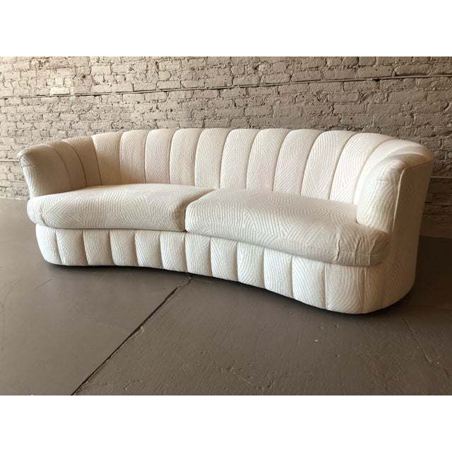 Postmodern 1980s Curved Weiman Sofas Styled After Vladimir Kagan - a Pair For Sale - Image 3 of 7