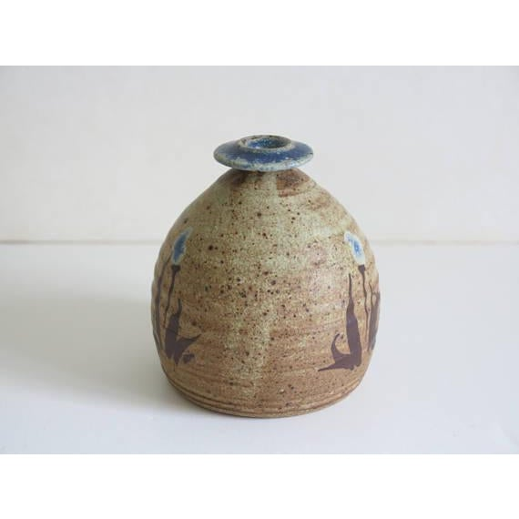 Mid-Century Modern 1970s Vintage Robert Fishman Stoneware Weed Pot For Sale - Image 3 of 6