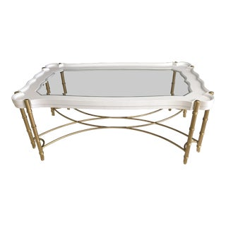 White Coffee Table - Glamorous Regency Style For Sale