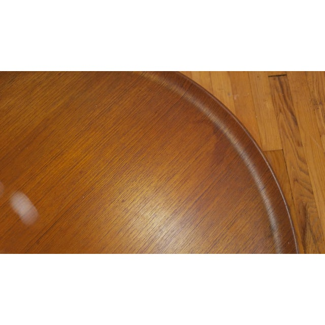 Fritz Hansen Teak Tray Table For Sale - Image 10 of 11