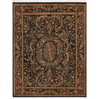 Kala Bage Pak-Persian Elva Black/Rose Wool Rug -9'2 X 12'6