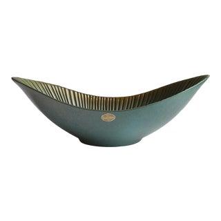 Upsala Ekeby Sweden Sgraffito Console Bowl For Sale