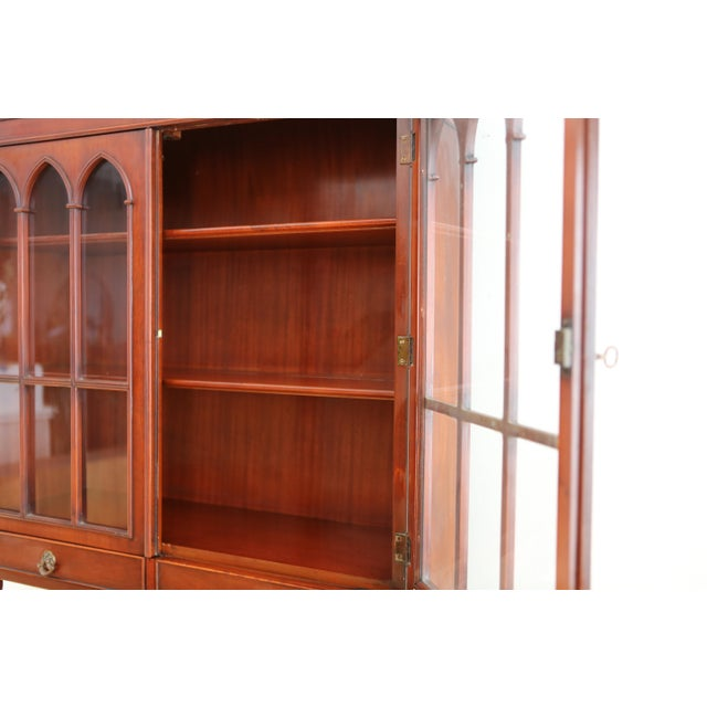 Antique Morganton Mahogany China Cabinet Hutch - Image 5 of 11 - Antique Morganton Mahogany China Cabinet Hutch Chairish